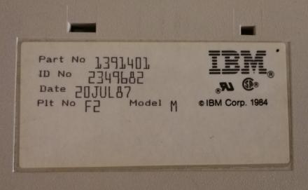 IBM Model M serial number